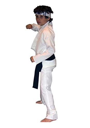 InCogneato 181683 Karate Kid Daniel-San Child Costume - White - -