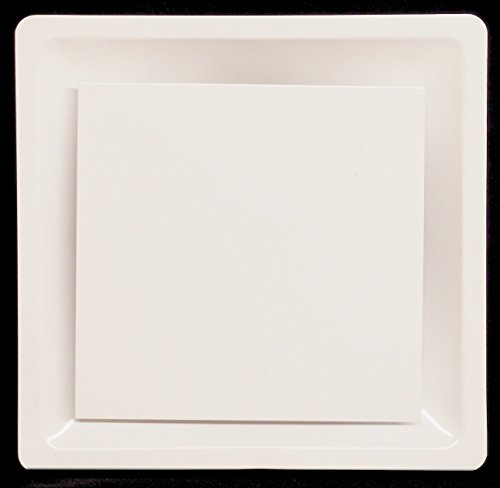 T-Bar Drop Ceiling Grille - Flat Plate Plaque Diffuser - 24
