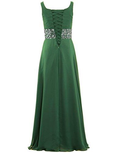 Bead ANTS Sleeveless Chiffon Prom Long Hunter Green Gown Dress Evening Women's 4pwrZExqp