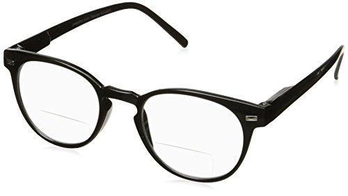 Peepers Men's Kennedy Bifocal 2292150 Round Reading Glasses, Black, - Amazon Reading Glasses Round