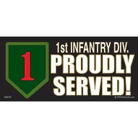 US Military Armed Forces Bumper Sticker - US Army - 1st Infantry Division