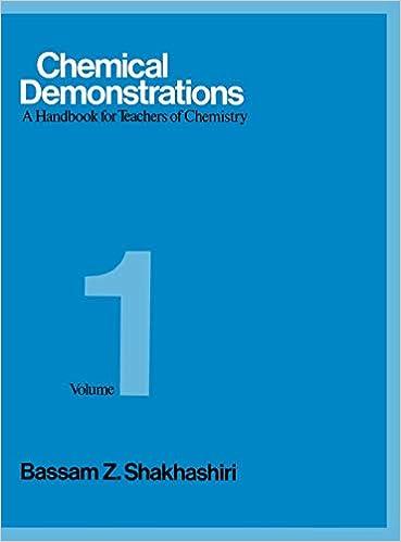 A Handbook for Teachers of Chemistry Volume 1 Chemical Demonstrations
