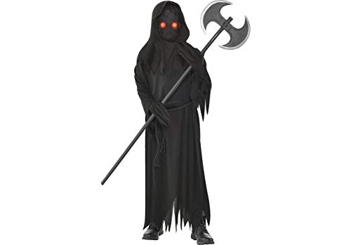 Amscan Light Up Glaring Grim Reaper Halloween Costume for Boys, Large, with Included Accessories
