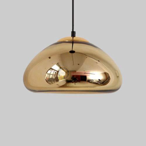 FidgetGear Tom Dixon Void Copper Brass Bowl Mirror Glass Bar Art Pendant Lamp Chandelier Gold L: 30 X 14cm
