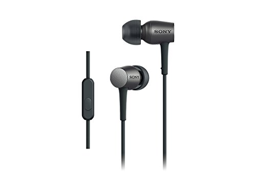 SONY h.ear in canal type earphone High-Resolution sound with Remote control, Microphone ,charcoal black MDR-EX750AP / B