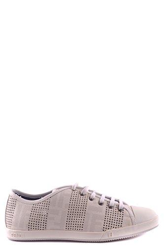 FENDI MEN'S MCBI122023O WHITE LEATHER SNEAKERS (Fendi Mens Sneakers)