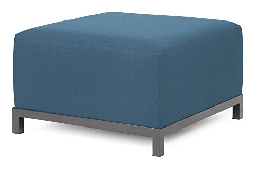 Howard Elliott Q902-899 Axis Ottoman Slipcover, Starboard Ocean by Howard Elliott Collection