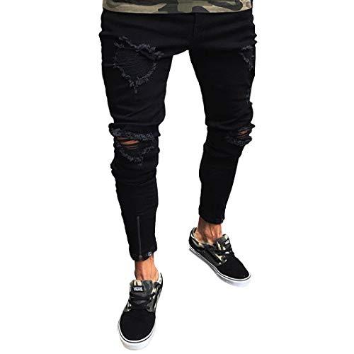 Style Slim Da M Mallty Strappati Size 1 Pantaloni color Jeans Jogging Casual Uomo 2 Elasticizzati Sportivi Fit 1Rq7R