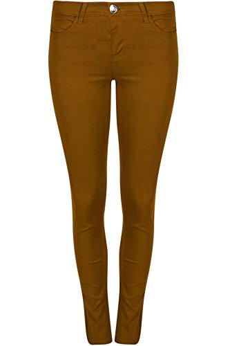 Be Jealous Plaine Jeans Poche Maigre Pantalon Moutarde Dames Denim Extensible Svelte Femmes qgdBrxq