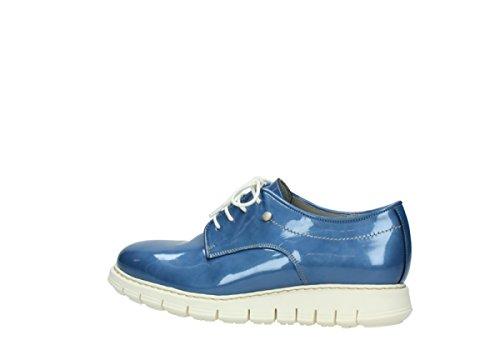 Wolky Comfort Schnürschuhe Daylight 60820 denim blau Lackleder