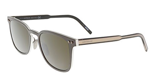 Sunglasses Montblanc MB 584S MB584S 49J matte dark brown / (Mont Blanc Brown Sunglasses)