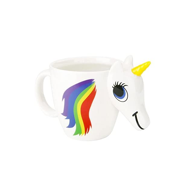 Magical Heat Sensitive Color Changing Rainbow Unicorn Magic Coffee Mug Cup Gift(3D) 3