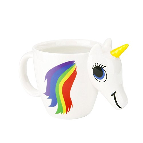 (Magical Heat Sensitive Color Changing Rainbow Unicorn Magic Coffee Mug Cup Gift(3D))