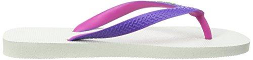 Havaianas Top Mix, Chanclas Unisex Adulto Multicolor (White/Purple 2650)
