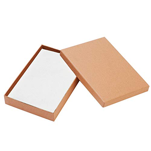 Cardboard 1 (BENECREAT 12 Pack Large Size Kraft Rectangle Cardboard Jewelry Boxes for Jewelry Set, 7 by 5 by 1-Inch, Brown)