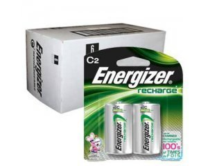 Energizer Recharge C Size Rechargeable Batteries NiMH 1.2V 12pk by Energizer