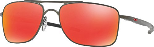 Oakley Men's Gauge 8 Non-Polarized Iridium Rectangular Sunglasses, Matte Carbon, 62 - 8 Oakley