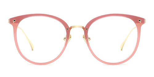 TIJN Women Retro TR90 Metal Round Glasses Frame Optical Rx-able Eyeglasses-Maaike