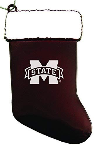 - Mississippi State University - Chirstmas Holiday Stocking Ornament - Burgundy
