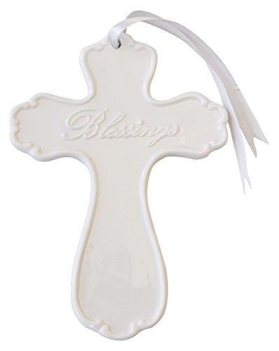 """Artisano Designs """"Blessings Elegant Porcelain Wall Cross"""