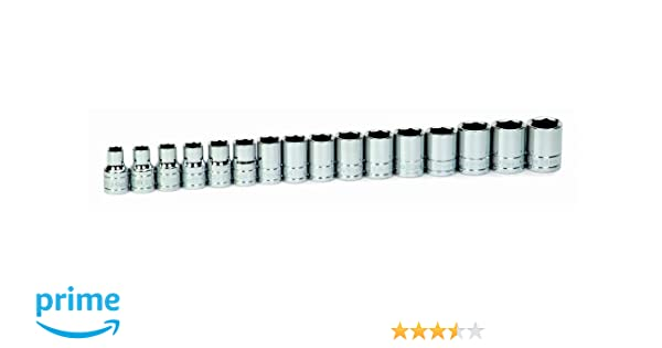 JH Williams 32937 16-Piece 1//2-Inch Drive Shallow 6 Point Socket Set