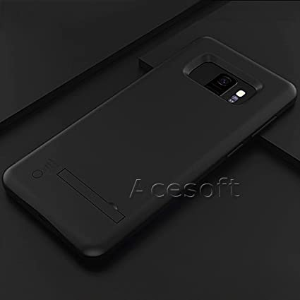 6000mAh External Portable Rechargeable Battery Pack Extended Backup Protective Cover for Samsung Galaxy S9 Plus SM-G965U Black 1x Samsung Galaxy S9 Plus Battery Case