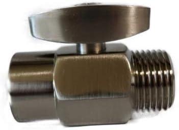 Brass 100 Shut Off Valve for Shower Head – Brushed Nickel