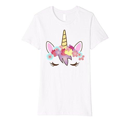 White Costume Lady Cute (Womens Premium Cute Unicorn Costume Shirt Medium)