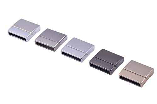 KONMAY 10 Sets 20x3.0mm Flat Magnetic Jewelry Clasps for Bracelets, Mixed]()