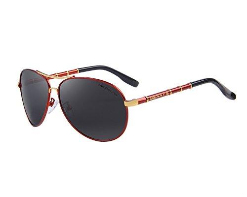 MERRYS Mens Polarized Sunglasses For Men Driver Sun Glasses S8766 Red&black