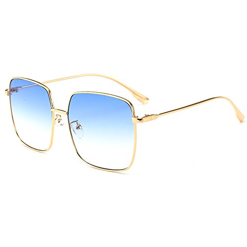 Protection Sunglasses UV Sunglasses Lens Oversize Shopping Gold Women Square Fashion Shield Coolest Frame Eyewear Travel Sunglasses Luxury blue Street OfqPCw