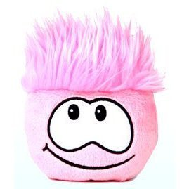 Disney Club Penguin 4 Inch Plush Puffle Pink