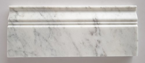 Bianco Venatino Marble Honed 5 X 12 Baseboard Trim Molding - STANDARD QUALITY - Lot of 20 Pcs.