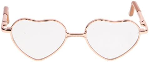 [해외]Toygogo Hippy Style Heart Shaped Frame Sunglasses for 12 Blythe Gradient Colored Lens - Gold Frame Clear Lens / Toygogo Hippy Style Heart Shaped Frame Sunglasses for 12 Blythe Gradient Colored Lens - Gold Frame Clear Lens