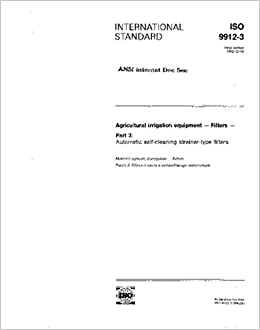 Amazon com: ISO 9912-3:1992, Agricultural irrigation