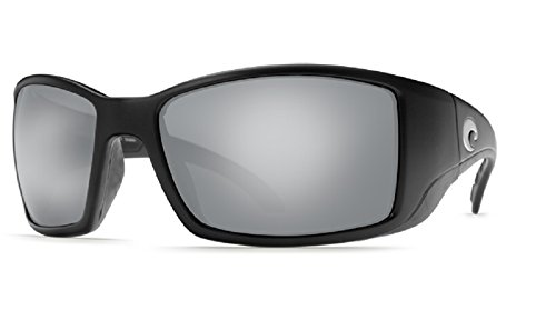 Costa Del Mar Sunglasses - Blackfin- Glass / Frame: Matte Black Lens: Polarized Silver Mirror Wave 580 ()
