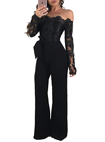 lace detail jumpsuit - 6