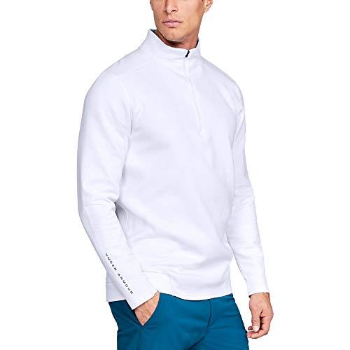 Under Armour Men's Storm Playoff Half Zip Sweatshirt, White (100)/Zinc Gray, Medium