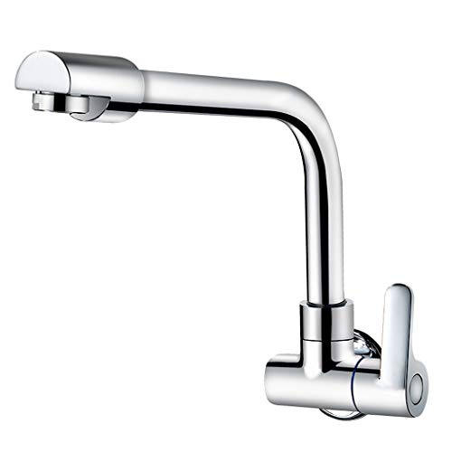 Yxx max Full Copper in-Wall Faucet Kitchen 360 Degree Rotating Single Cold Faucet by Yxx max (Image #7)
