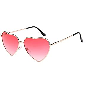 COOCOl Fashion Heart Shaped Sunglasses Women Luxury Brand Designer Vintage Retro Sun Glasses Ray Small Eyewear Gold Gradually W red