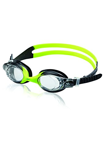 Speedo Kids' Skoogles Swim Goggle, Black/Green, One Size