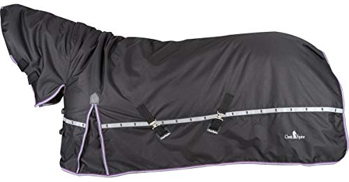 Classic Rope Company 10K Cross Trainer Horse Blanket with Hood Black XL81/83
