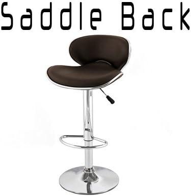 South Mission Saddleback Modern Adjustable Leather Bar Stool Set of 2 – Brown