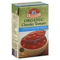 Dr. Mcdougall's Right Foods Soup, Organic, Chunky Tomato, Lower Sodium, 17.7 Oz. (Pack of 4)