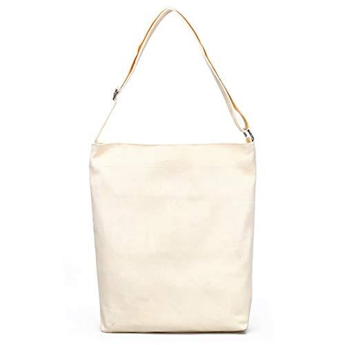 747cafb52211 Fanspack Women s Canvas Tote Bag Simple Casual Crossbody Bag Top Handle  Hobo Bag Shoulder Bag Beige