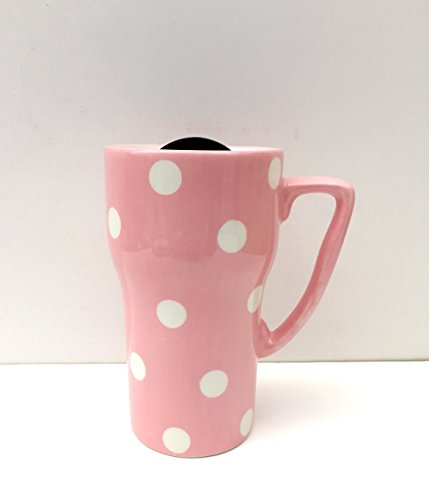 Polka Dots Travel Mug Color: Pink