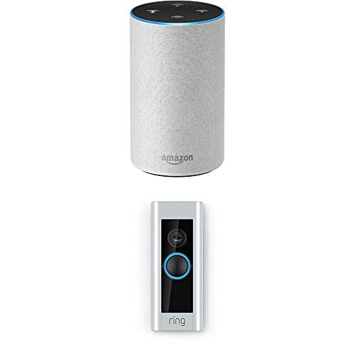 Echo (2nd Generation) – Sandstone Fabric with Ring Video Doorbell Pro