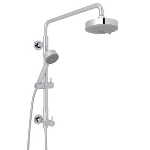 ROHL L0095KIT2APC Retro-Fit Shower Column Riser with Diverter/Handshower/Hose/Showerhead Set, Polished Chrome