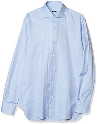 ドレスシャツ ワイドカラーシャツ メンズ