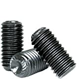 Set Screws Knurled Cup Point - Alloy Steel #3-56 x 1/8'' - Thermal Black Oxide (Quantity: 100) - Grub-Blind-Allen-Headless Screw